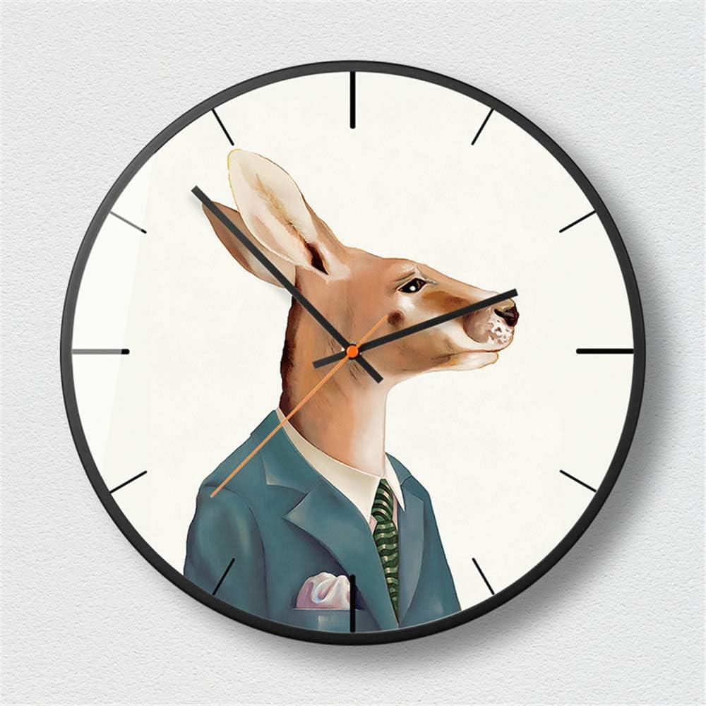 JUNDY Reloj de Pared, Reloj de Cocina,Ideal para la Casa Oficina Restaurante,Decorativo para el hogar Personalidad Reloj Reloj Sala Negro 4-C 12 Pulgadas: Amazon.es: Hogar