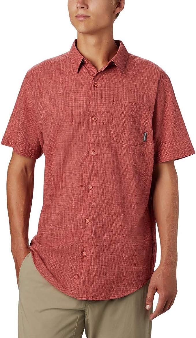 Columbia Under Exposure Yarn Dye Short Sleeve Shirt Camiseta para Senderismo para Hombre