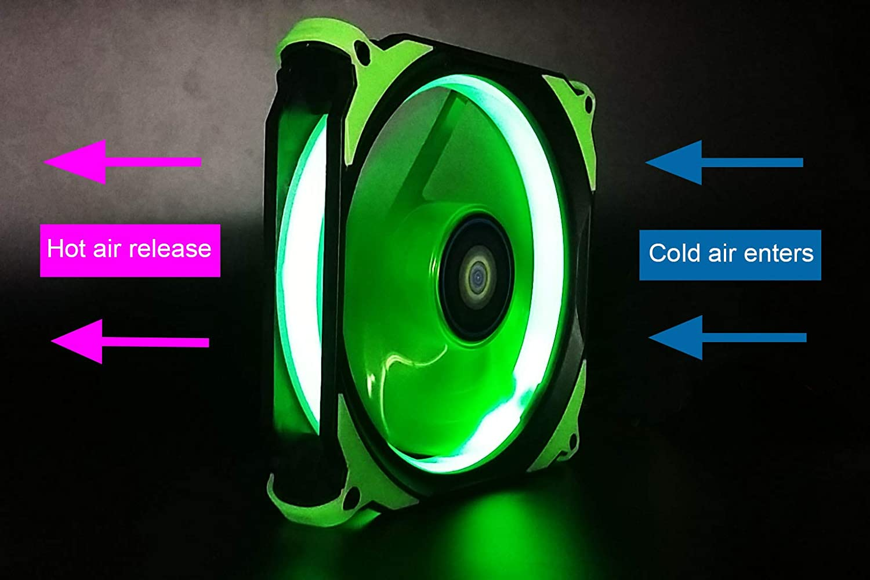 CONISY Ring Serie PC Fan 120mm LED Luz Ventiladores Silencioso para Caja de Ordenador - Verde (2 Pack): Amazon.es: Informática
