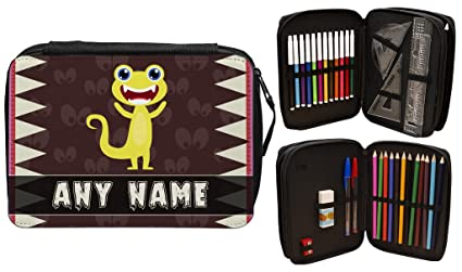 Personalizado Scary Monsters estuche escolar 13: Amazon.es ...