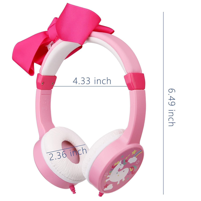 Mejory Audifonos Diadema Color Rosado para Niñas Control Limite De Volumen Ajustables by Mejory (Image #2)