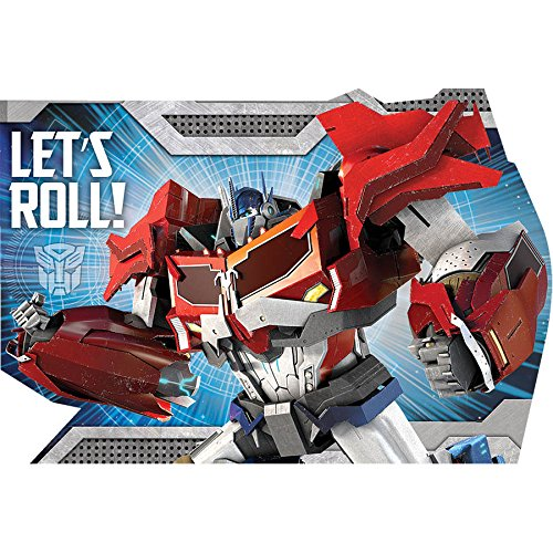 [Amscan Mighty Transformers Birthday Party Postcard Invitation Kit (8 Pack), 6