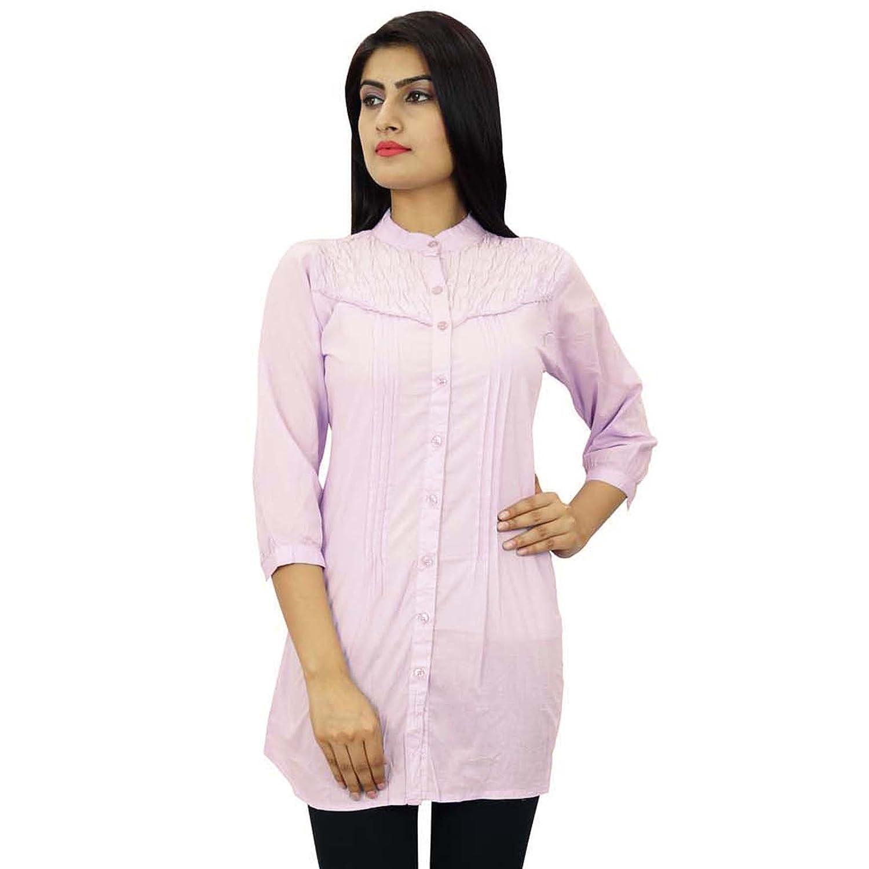 Cotton Lässige Tunika Frauen Boho Top Langarm-Sommer-Abnutzungs-Sommerkleid  günstig online kaufen