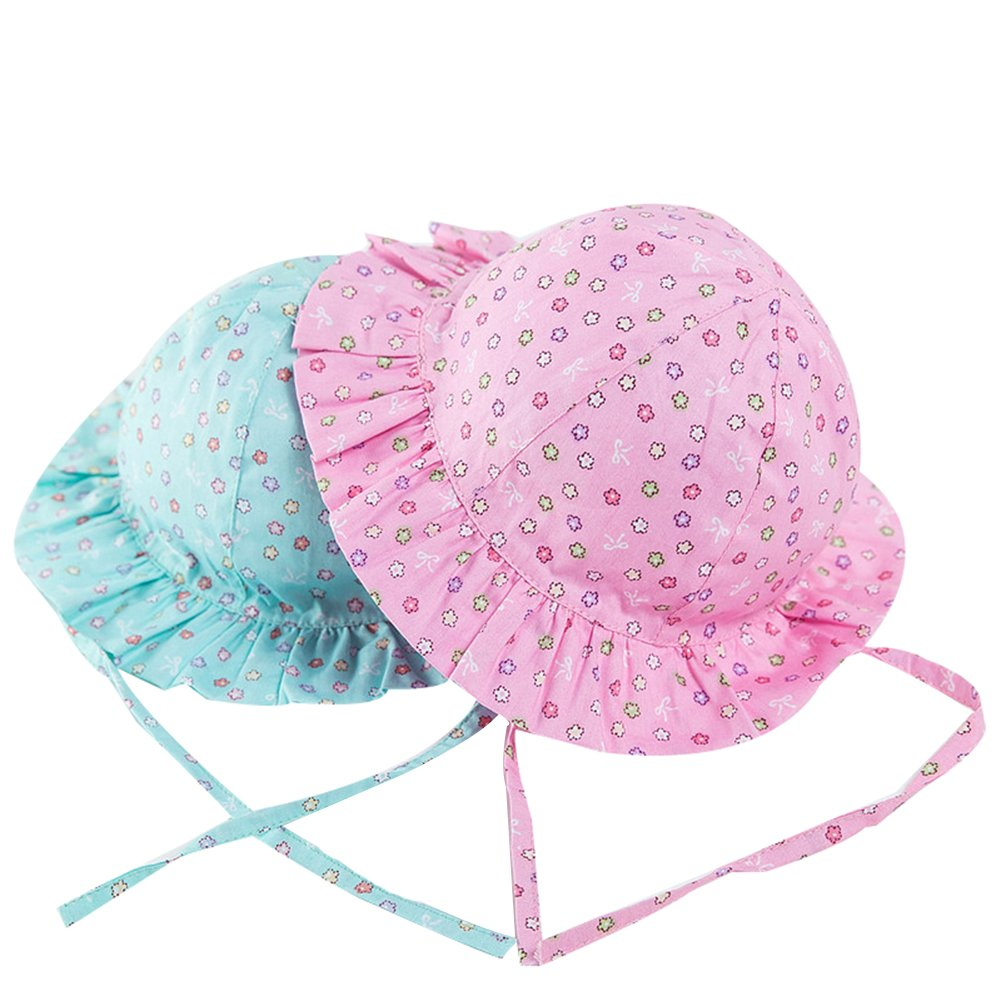 LOSORN ZPY Toddler Baby Girl Floral Bucket Sun Protection Hat Summer Outdoor Cap