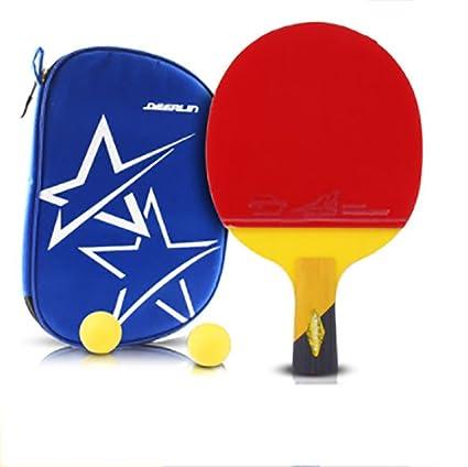 xianw 6 Estrellas Ping Pong Padel - Raqueta de Tenis de Mesa ...