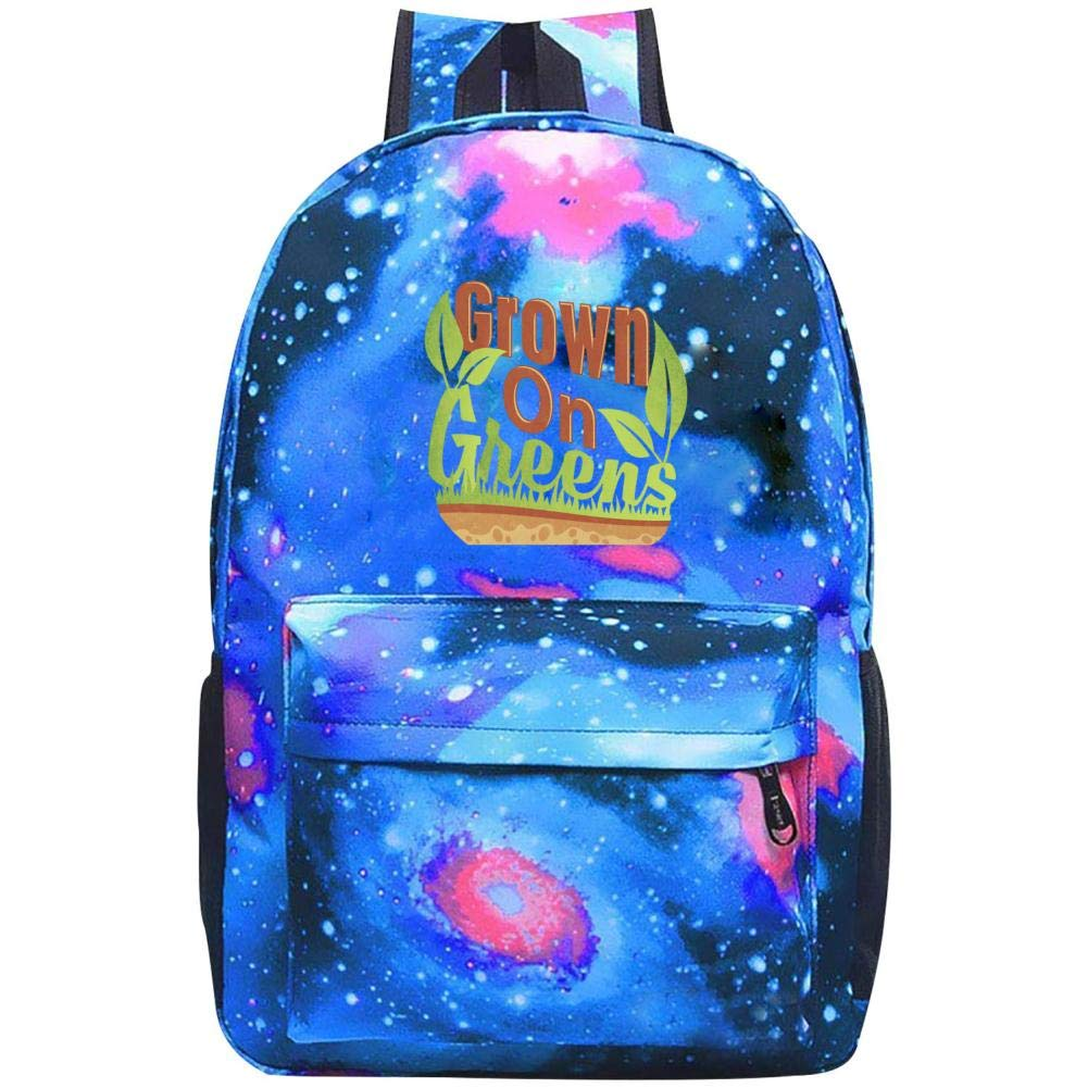 Grown on Greens - Veggie Lovers Galaxy Universe Space Galaxy スクールバックパック スクールバッグ 大容量20~35Lバッグ ONE SIZE B07NQ4RB8C ブルー ONE SIZE
