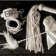FIRESALE! 80% Off! Upscale Fetish Bondage Restraint Kit for Women Bedroom Sex Play - Handcuffs, Feather Tickler, Blindfold, Whip - BDSM Bondageromance Kit for Couples. Gift Boxed. Dalliance Adult ®