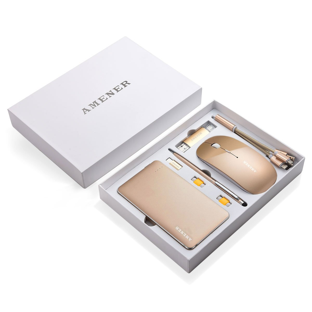 AMENER Luxury Business Gift Set- Professional Office Supplies Cellphone Computer Electronic Kit, (Gold) by AMENER (Image #7)