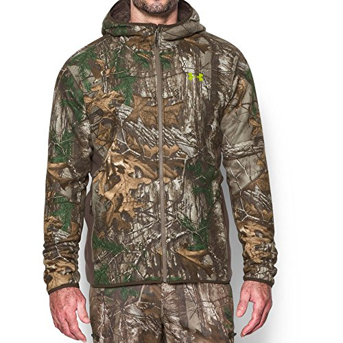 Under Armour Men's Stealth Fleece Hoodie, Realtree Ap-Xtra/Velocity, Large (Blue Camo Under Armour Sweatshirt)