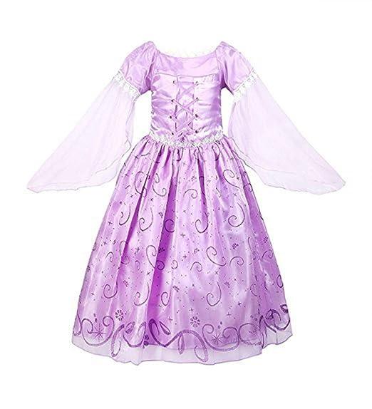 YOSICIL Vestido Rapunzel Princesa Sofía Disfraz de Princesa ...