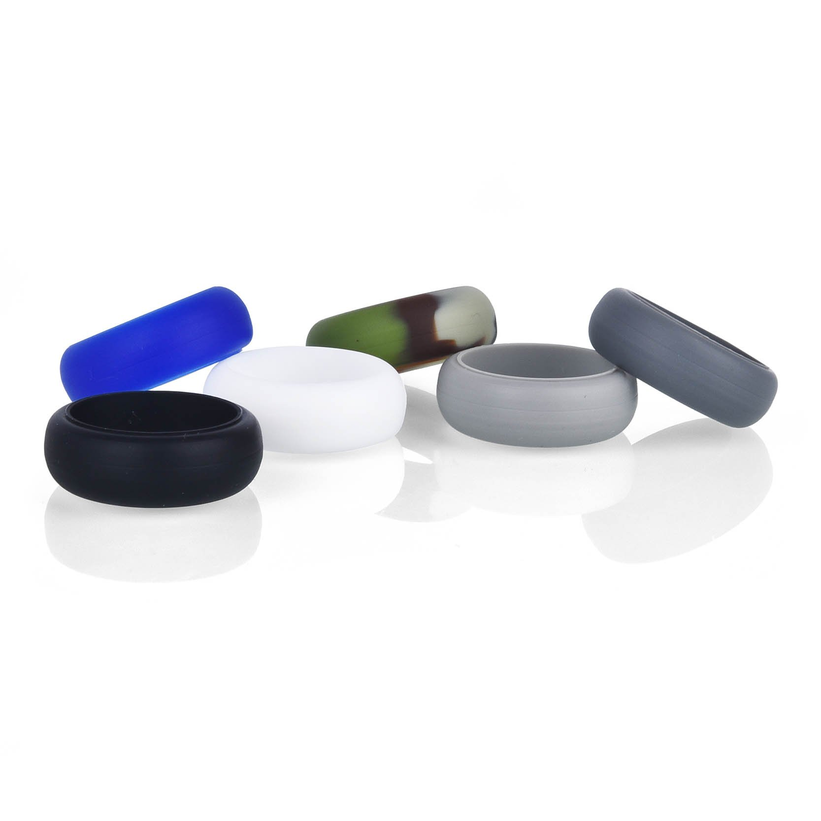 OBSEDE Women Men Vogue Wedding Silicone Ring Smooth Comfort Band Ring Set 6 Pack Size 10 by OBSEDE (Image #3)