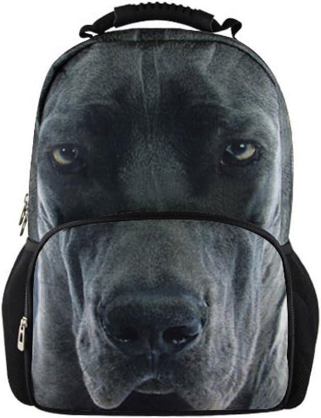 Bigcardesigns Boys 3D Animal Great Dane Back to School Rucksack backpack