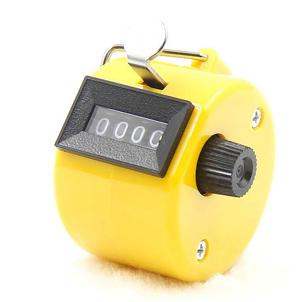 4 Digit Tally Counter Manual Clicker Lap Click Counter Hand Held Clicker for Walking Sport Stadium Coach Casino and Buddha Numbers, Yellow Rong Sa
