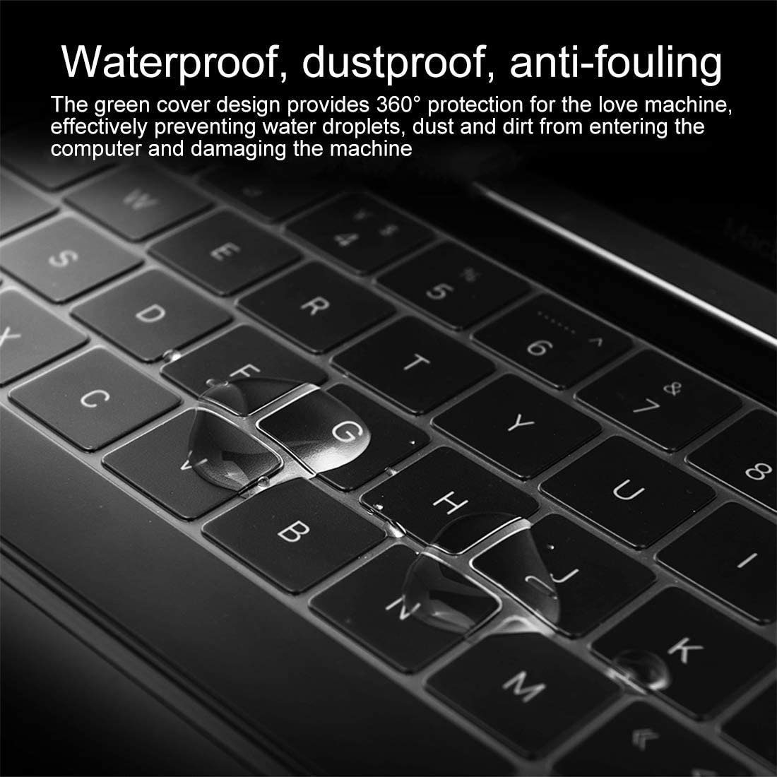 Black Color : White A1534 // A1708 Durable Keyboard Protector Silica Gel Film for MacBook Retina 12 // Pro 13