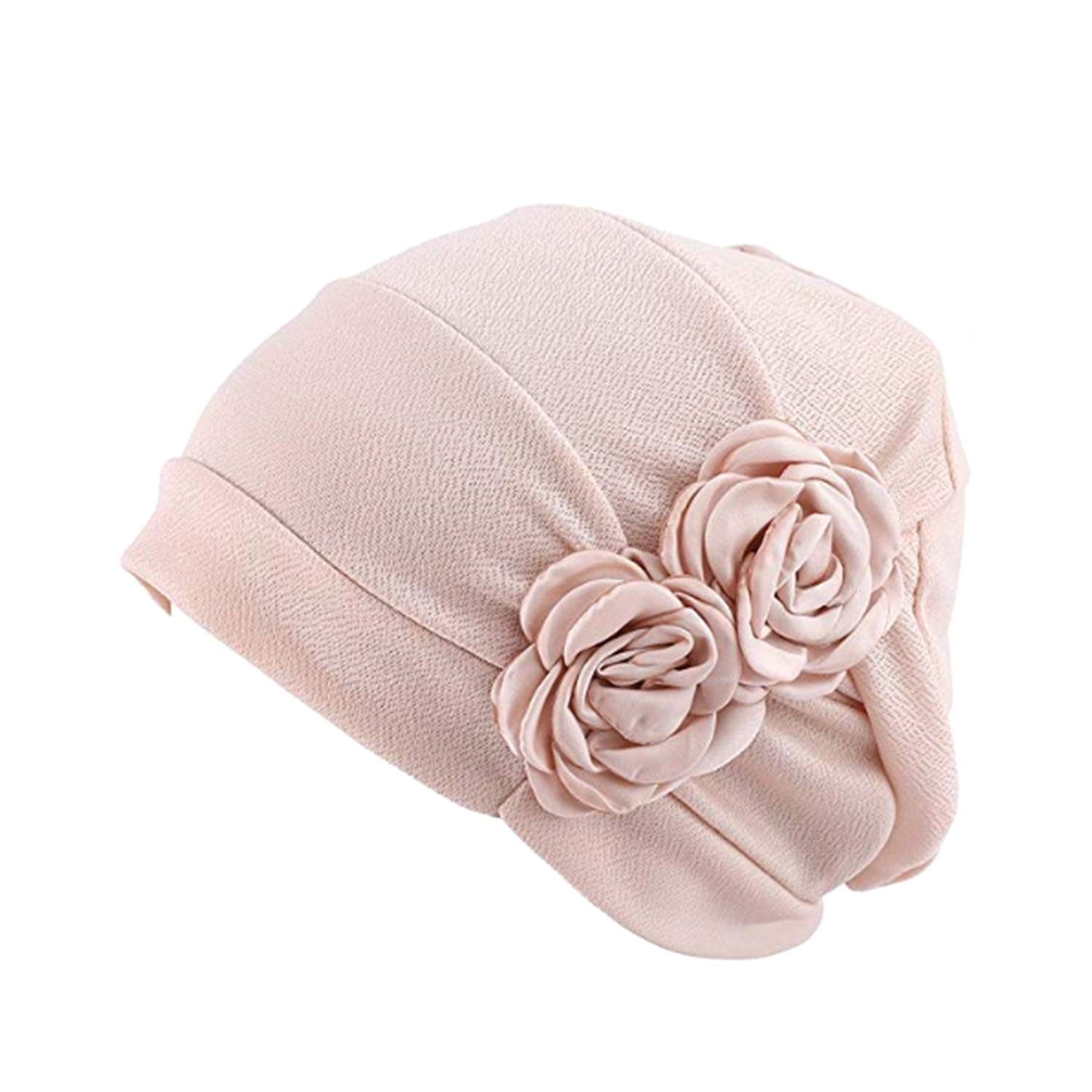 1920s Style Hats WETOO Women Chemo Hat Beanie Flower Headscarf Turban Headwear for Cancer $7.99 AT vintagedancer.com