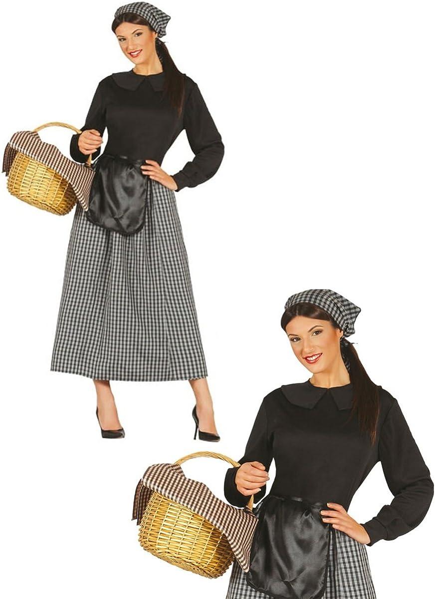 Disfraz de castañera para mujer - L: Amazon.es: Juguetes y juegos