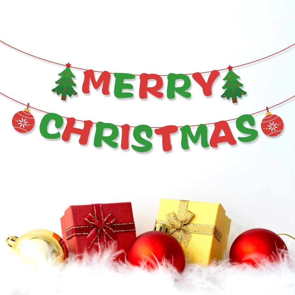 Christmas Decorations Christmas Bunting Banner Garland Festive Home Decor