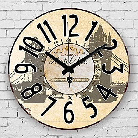 Amazon.com: Europe style home decor quartz silent watch wall ...