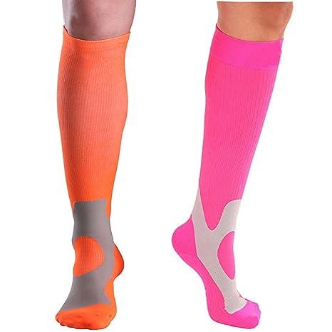 AHAHA 2 Par Calcetines de compresión para enfermeras fútbol y recuperación de deportes correr circulación viaje