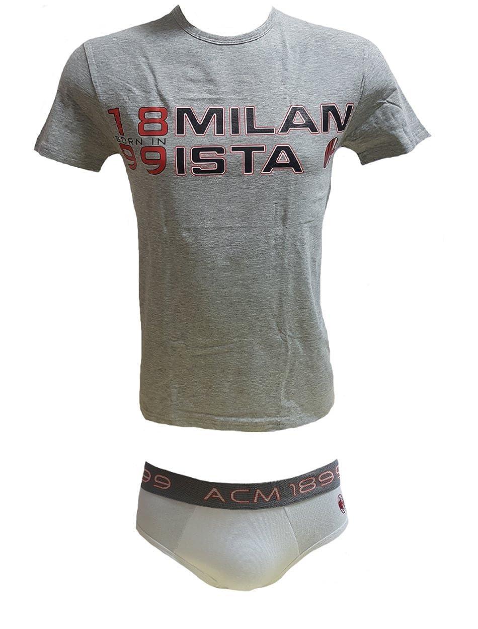 Completo Intimo Slip E Maglietta Adulto Ac Milan Abbigliamento Squadre PS 05408 Vari