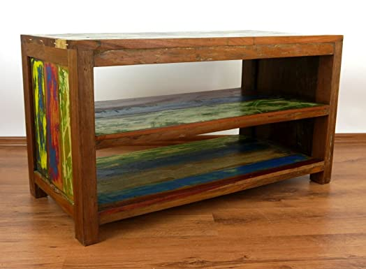 Colourful Teak Wood Sideboard  made from Reclaimed Boat Wood  Handmade Java  furniture  Indonesia. Colourful Teak Wood Sideboard  made from Reclaimed Boat Wood