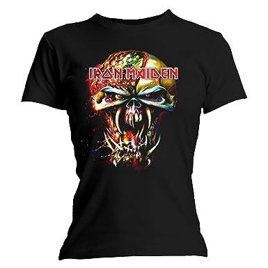 5f5dfcfa Iron Maiden Women Final Frontier Big Head Short Sleeve T-shirt, Black, Size