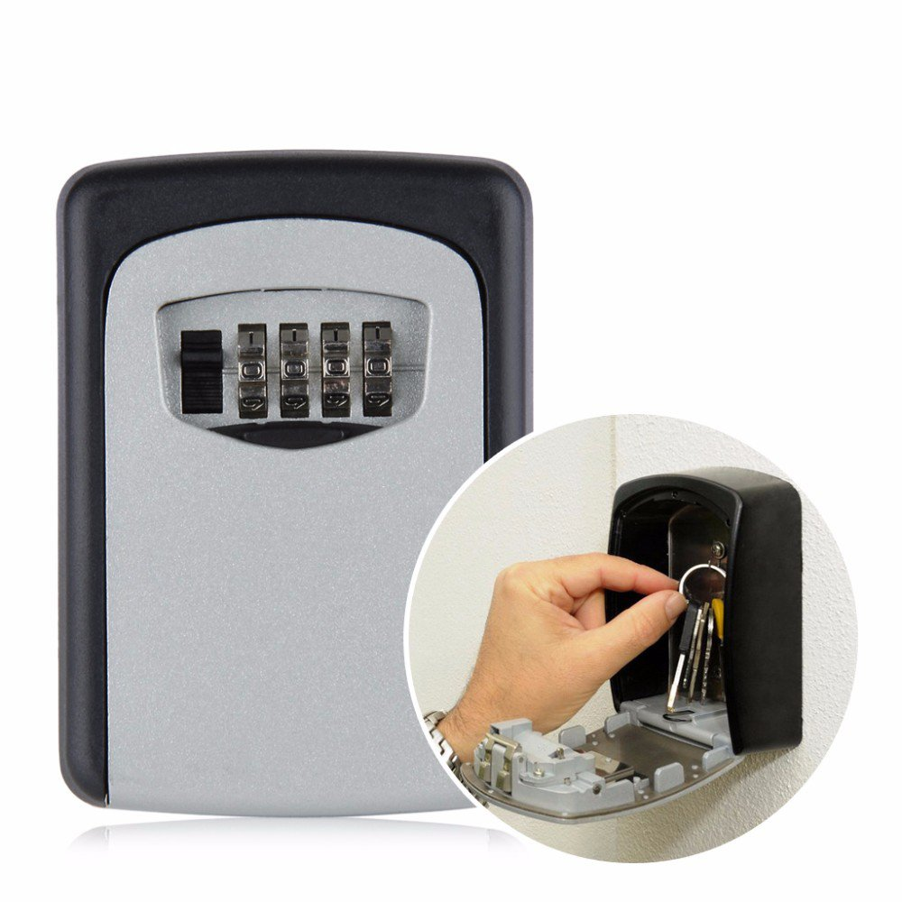 Safety Home Durable Designed Storage Box Money Key Hider 4 Digit Security Secret Code Lock Home Gift Can be use indoor/outdoor, Car, Home, Garage Etc. LKK-6
