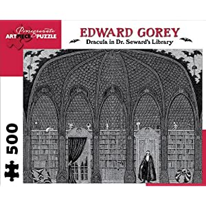 Edward Gorey Dracula In Dr Sewards Library 500 Piece Puzzle Inglese Giocattolo 15 Giu 2012