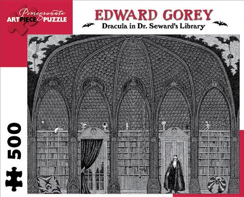 Edward Gorey - Dracula in Dr. Seward's Library: 500 Piece Puzzle (Pomegranate Artpiece Puzzle)
