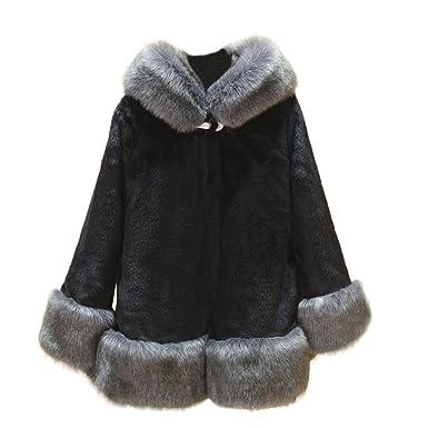 0babda932c1b HOMEBABY Women Faux Fox Fur Coat