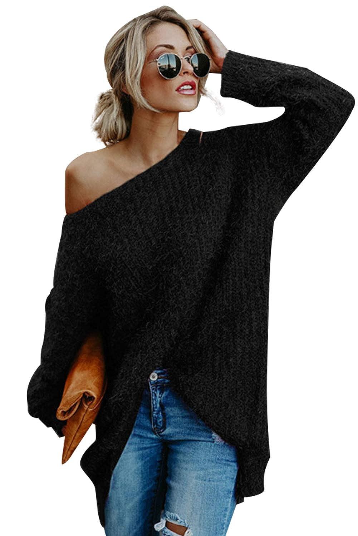 7878a419ef83 Maglia Manica Pipistrello Pullover Donna Inverno Autunno Moda T Shirt  Ragazza Magliette Tumblr Casual Camicette Lunghe