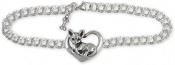 Chihuahua Jewelry Chihuahua Bracelet Jewelry Silver And Gold Handmade Chihuahua Bracelet CH60-TNCB
