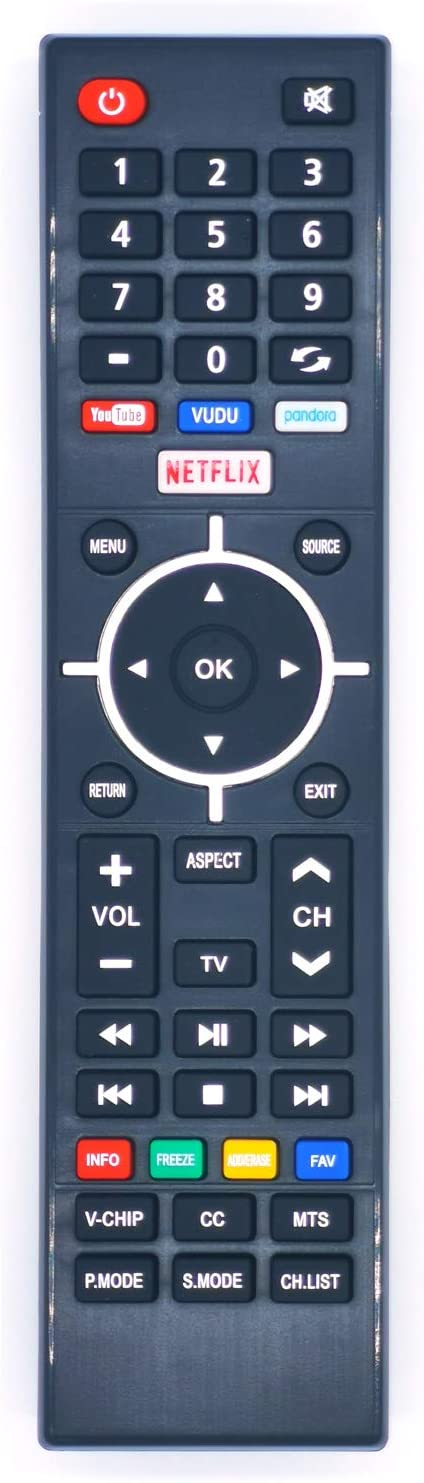 New Universal Remote Control for Element TV Remote Replacement for LCD LED HDTV Smart TV