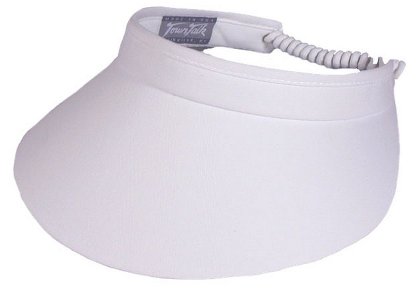 Town Talk Twisted Cord 4-inch Visor-One Size Fits All-White