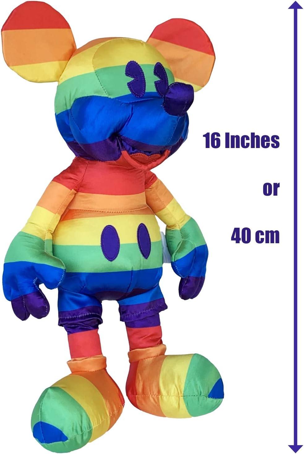Gay Days Pride Mickey Mouse Plush Rainbow 2019 NWT