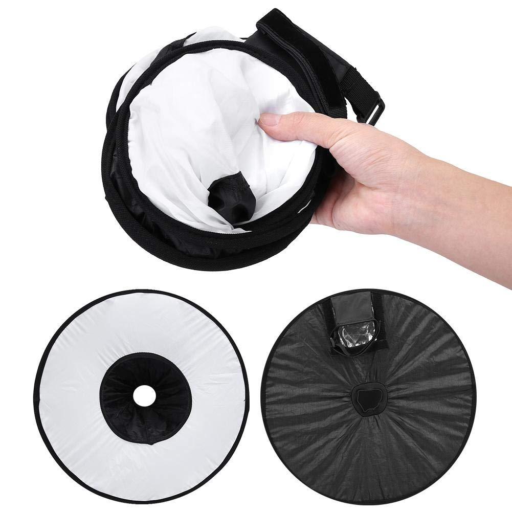 Topiky Round Softbox Diffuser 42x16cm Portable Folding Softbox Speedlite Diffuser Flash Light Lamp Hood for Canon Nikon Sony Flash