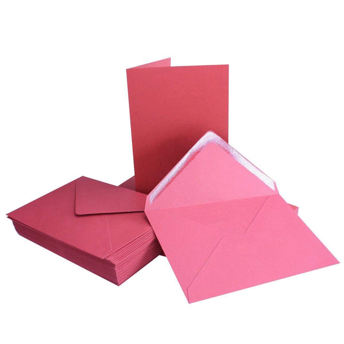 75 Sets - Faltkarten Hellgrau - Din A5  Umschläge Din C5 - Premium Qualität - Sehr formstabil - Qualitätsmarke  NEUSER FarbenFroh B07BSJQLWZ | Komfort