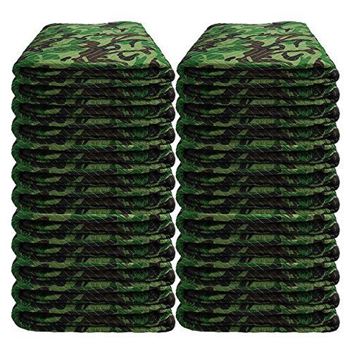 "Moving Blanket (24-Pack) 72"" X 80"" US Cargo Control - Camo (130 Lbs/2 Dozen, Camouflage) by US Cargo Control"