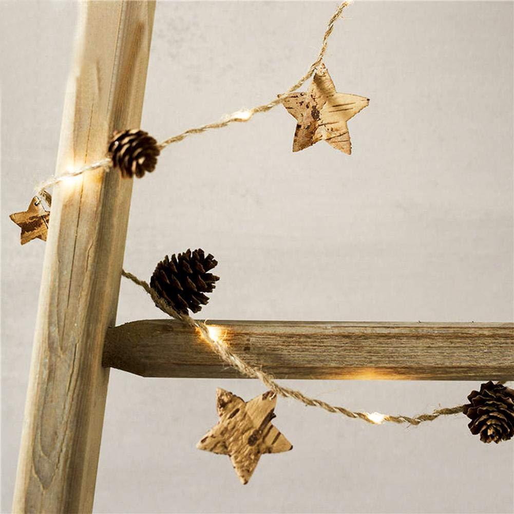 Là Vestmon 2M Luci di Natale Luci di rame a LED Luci di corda di pino cono per l'albero di Natale Decorazione della casa Party Indoor Outdoor Room Garden Wall Wedding Biback