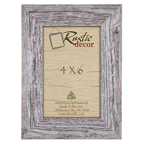 4x6 picture frames barnwood reclaimed wood standard photo frame - Wooden Picture Frames Cheap