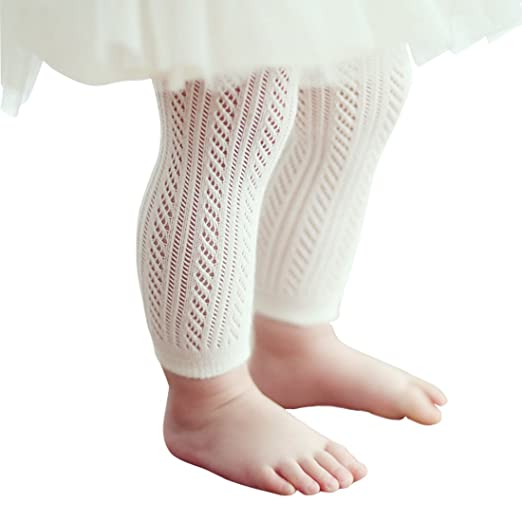 c4e132d7a1f5e Baby Girls Toddler Leggings Cotton Footless Infant Tights ( S, White )