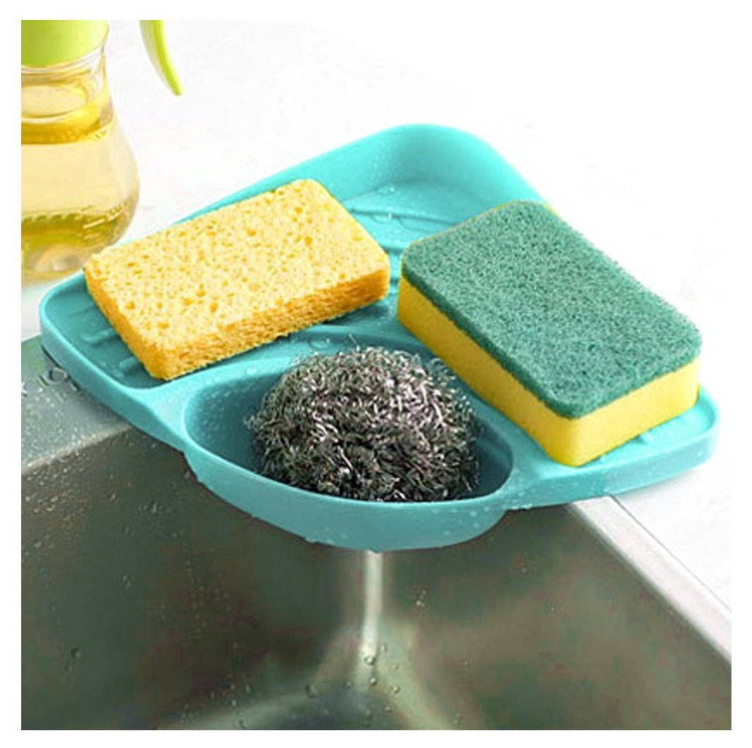 Amazon.com: Kemilove Kitchen sink caddy sponge holder scratcher ...