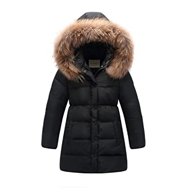 Amazon.com: LJYH Big Girls' Winter Down Parka Thick Hooded Outwear ...