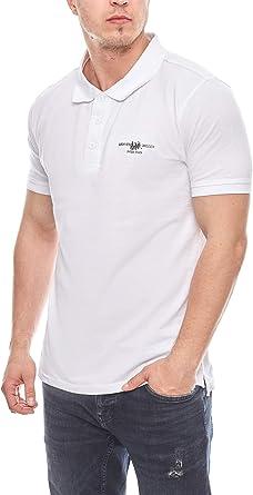 HARVEY MILLER POLO CLUB Elegante Camisa Hombre Polo Camisa Blanca, tamaño:XL: Amazon.es: Ropa y accesorios