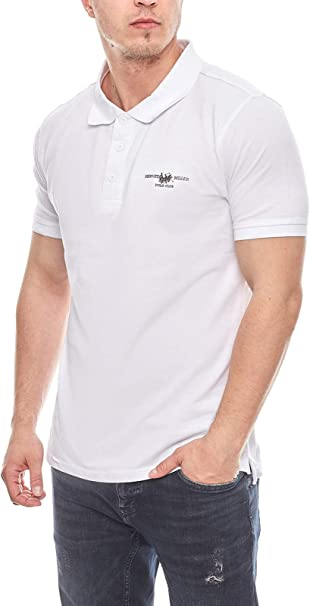 HARVEY MILLER POLO CLUB Elegante Camisa Hombre Polo Camisa Blanca ...