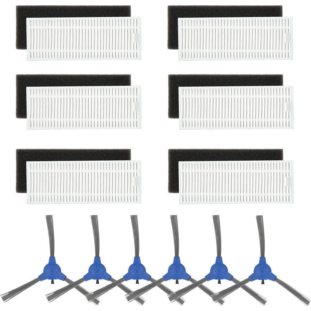 Für Eufy Robovac 11 Robovac 11C//D Filter /& Seite /& Haupt Bürste Ersatzteil Set
