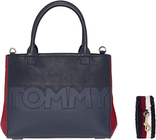 TOMMY HILFIGER TH Core Satchel Schultertasche Tasche Corporate Blau Neu