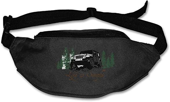Jeep Life Sport Waist Packs Fanny Pack Adjustable For Hike