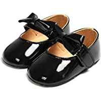 COSANKIM Baby Girls Mary Jane Shoes Soft Sole Non Slip Toddler First Walker Crib Dress Shoes