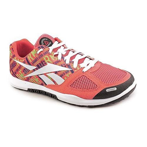Reebok R Crossfit Nano 2.0 - Zapatillas de sintético para mujer rosa Crl/GrnM/Prpl/Wht/Grn/Blk 38: Amazon.es: Zapatos y complementos
